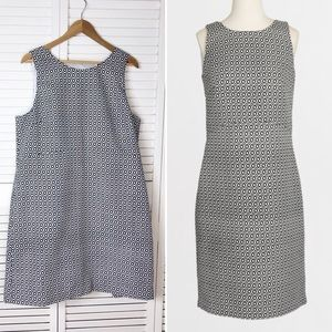 J. Crew diamond jacquard cut out shift dress